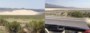 A sand hill and a salt lake enroute to Fallon